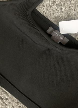 Чёрный топ в рубчик2 фото