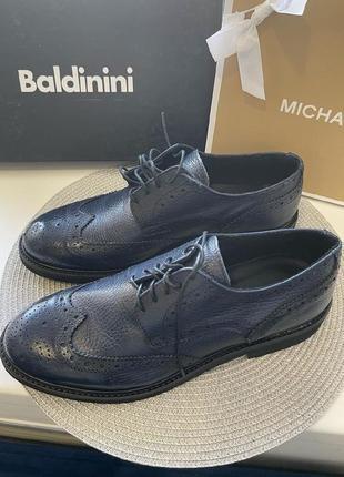 Мужские туфли baldinini кожа оригинал3 фото