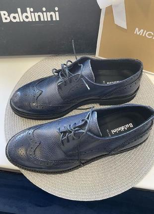 Мужские туфли baldinini кожа оригинал4 фото