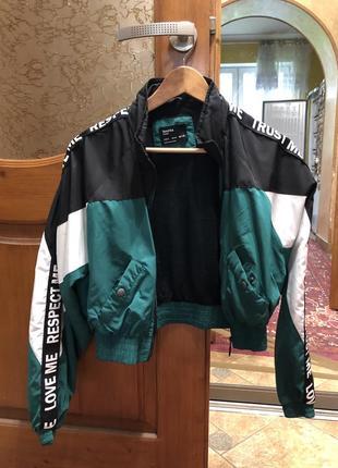 Укорочена вітровка (куртка) в стилі макса коржа