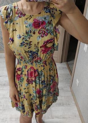 Легкое красивое платьице сарафан с рюшами