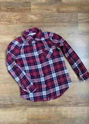 """Рубашка фланелевая баечка тм """"h&m"""" р.8-9/135см."""