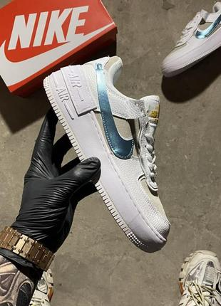 Кроссовки nike air force 1 shadow white electric