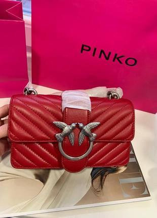 Сумка pinko love mini icon quilt shoulder bag nappa leather кожа оригинал2 фото