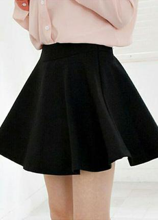 Черная мини юбка bershka