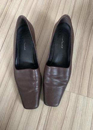 Туфли винтаж квадратный носок