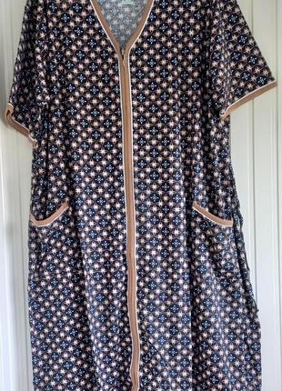 Женский трикотажный халат супер батал очень большого размера