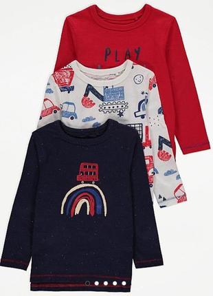 Новый реглан лонгслив футболка с длинным рукавом george англия