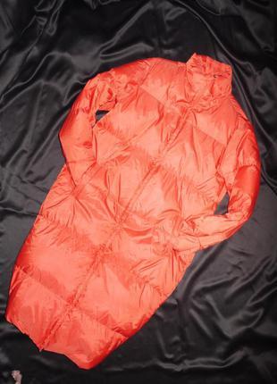 Нереально крутой пуховик до пола ( пуховик - одеяло ) benetton playlife . коралловый