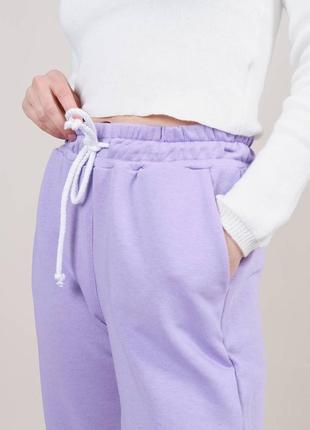 Спортивные штаны брюки джогеры высокая посадка4 фото