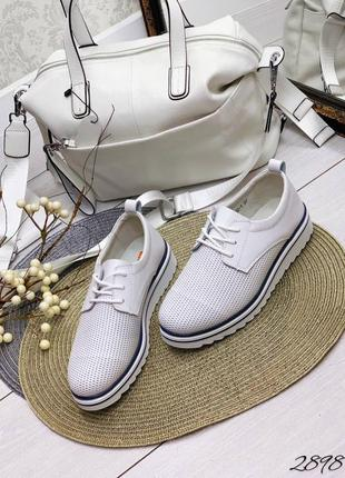 Туфли летние натуральная кожа