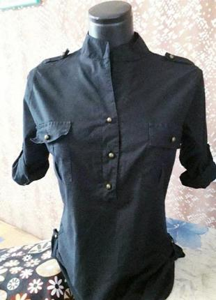 Актуальная легкая .базовая рубашка2 фото