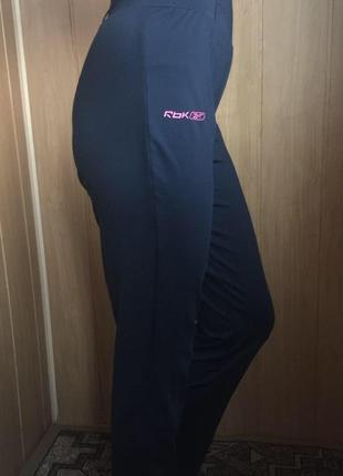 Тёмно синие спортивные штаны на высокой посадке резинка xs s m reebok
