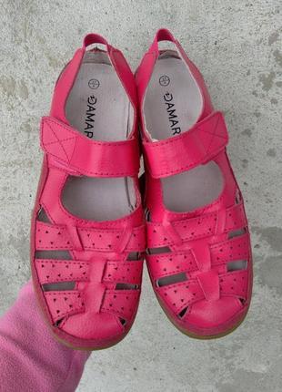 P.37 damart (оригинал) кожаные туфли сандалии.