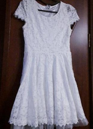 Натуральное кружевное платье1 фото