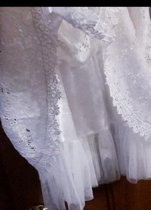 Натуральное кружевное платье4 фото