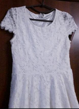 Натуральное кружевное платье3 фото