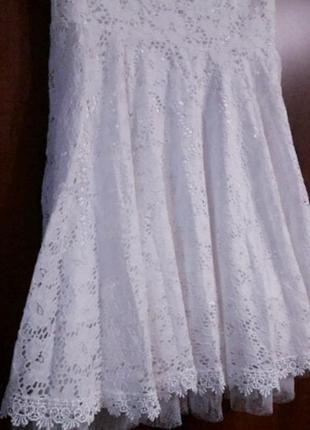 Натуральное кружевное платье2 фото