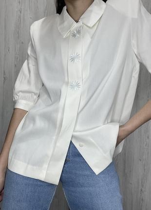 Красивая блуза с вышивкой от японского бренда el midas
