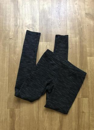 Чёрные плотные лосины леггинсы чёрные8 фото