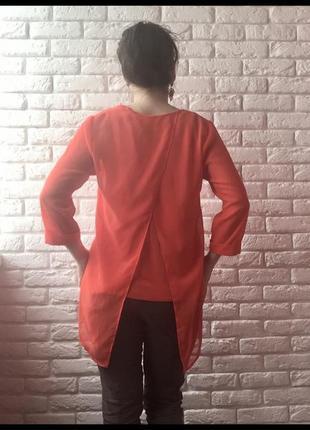 Оранжевая блуза туника