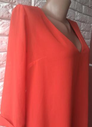 Оранжевая блуза туника5 фото