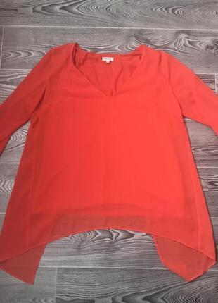 Оранжевая блуза туника7 фото