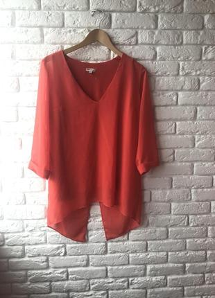 Оранжевая блуза туника4 фото
