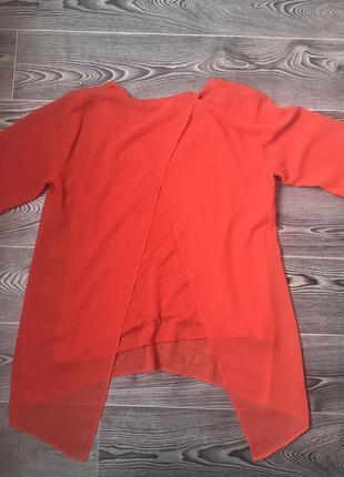 Оранжевая блуза туника8 фото