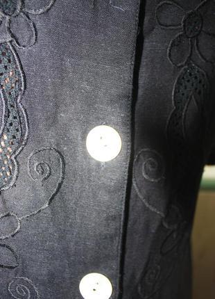 Прекрасное натуральное платье с декором на груди батал5 фото