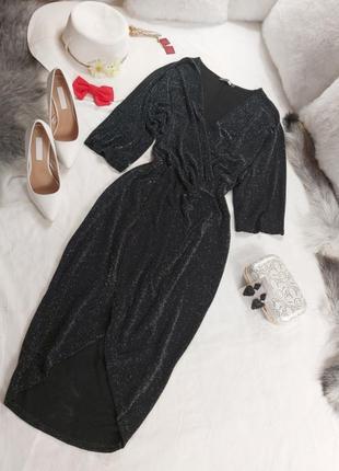 Шикарное стильное вечернее нарядное платье с люрексовой ноткой2 фото