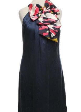 Шелковое платье с шикарным бантом