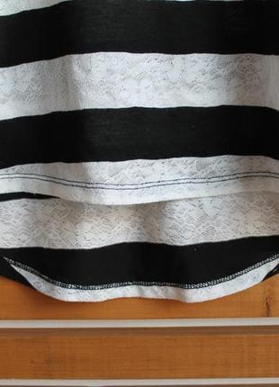 Кропнутый полосатый топ new look свободного кроя оверсайз, р-р xs-m5 фото
