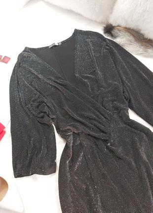 Шикарное стильное вечернее нарядное платье с люрексовой ноткой4 фото