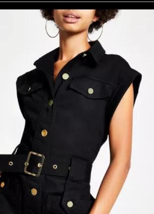 Платье стиль милитари оригинал платье-футляр с ремнем и крутой пряжкой складки