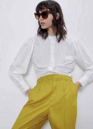 Новые! яркие брюки от zara р. xs