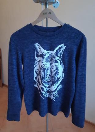 Пуловер лонгслив кофта с волком