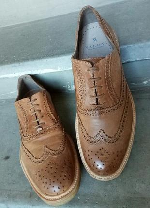 Новые туфли оксфорды valuni кожа 43