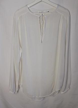 H&m белая рубашка вискоза хлопок большой размер