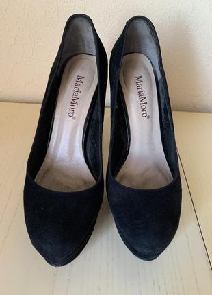Туфли замшевые maria moro