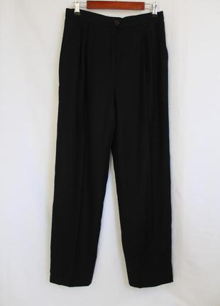 Valentino vintage винтажные шерстяные классические брюки с высокой посадкой зауженные