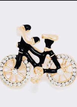 Интересная брошь велосипед fashion