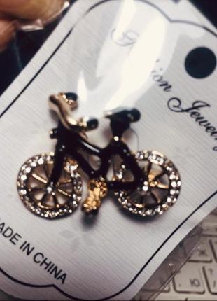 Интересная брошь велосипед fashion3 фото