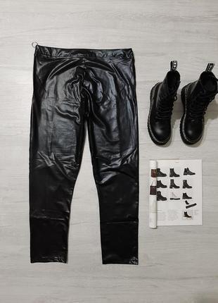 Boohoo кожаные леггинсы m-l брюки кожа прямые в обтяжку укороченные узкачи тренд5 фото