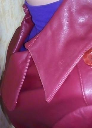 Кожаная лайковая куртка с поясом/косуха/пиджак/бомбер/куртка/кофта8 фото