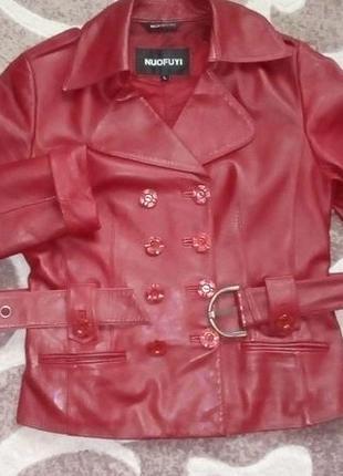 Кожаная лайковая куртка с поясом/косуха/пиджак/бомбер/куртка/кофта9 фото