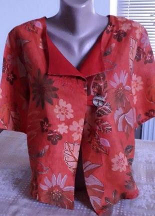Натуральная блуза. 50-52р. лен 100%
