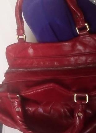 Роскошная 100% кожаная сумка/сумочка/торба/сумка/рюкзак/клатч/торба/куртка/юбка7 фото