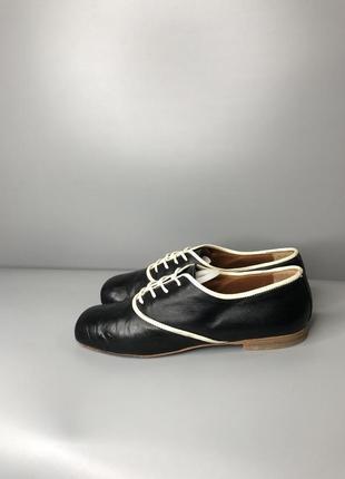 Туфли оксфорды женские с квадратным носком мысли кожаные cuccinelli fabiana2 фото