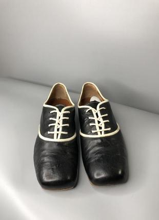 Туфли оксфорды женские с квадратным носком мысли кожаные cuccinelli fabiana9 фото
